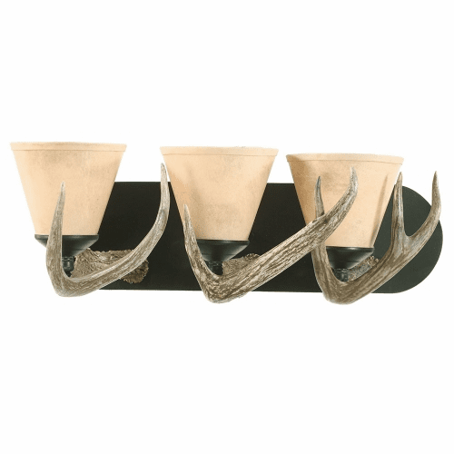 White Tail Antler Vanity Light (Large, Paper Shades)