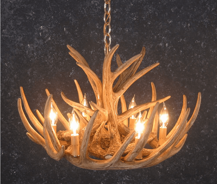 Whitetail Deer Antler Chandelier - Cascade Style w/ Down Light