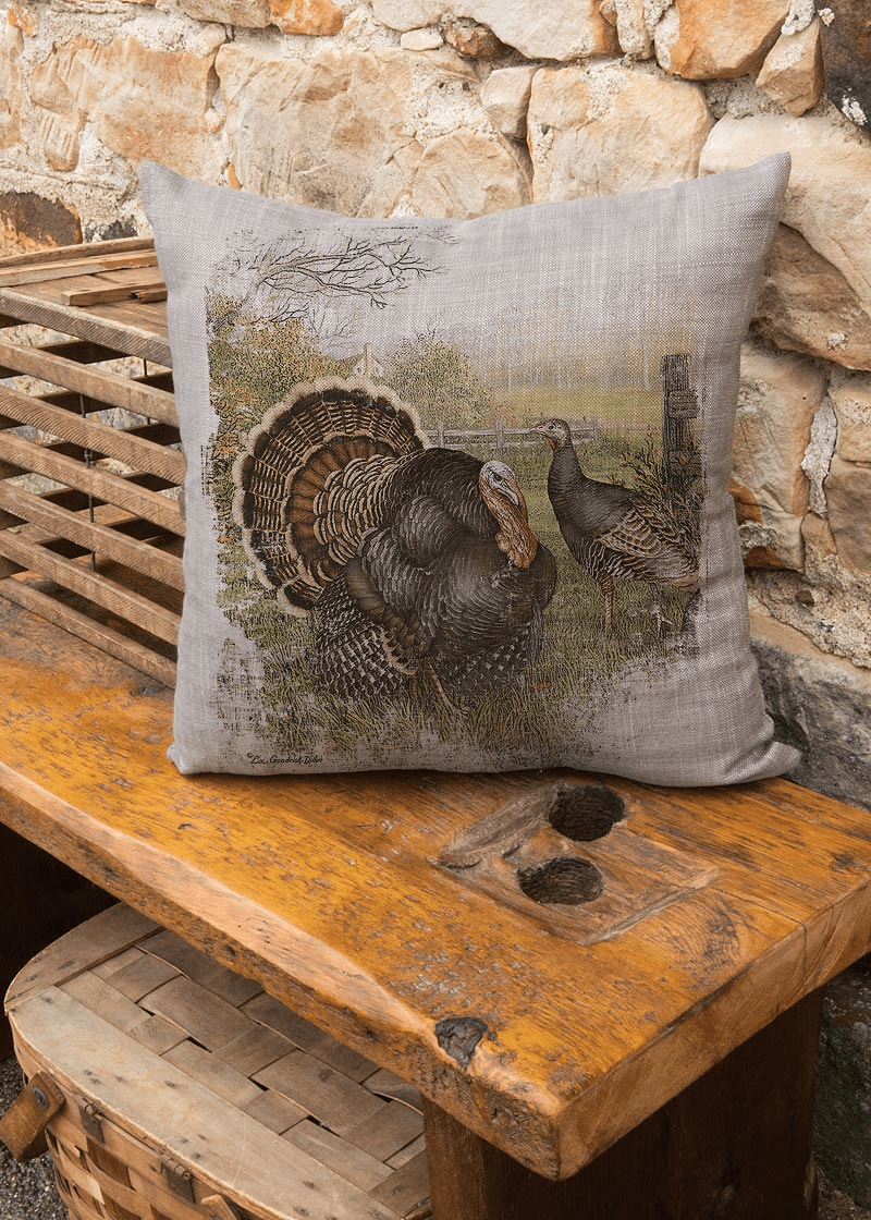 Wild Turkey Large Pillow