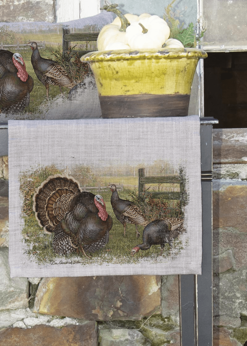 Wild Turkey Large Table Runner