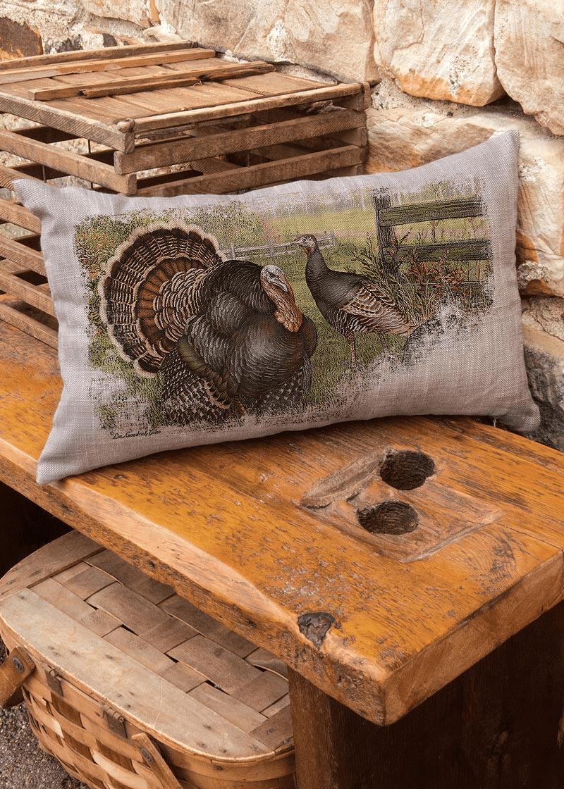 Wild Turkey Small Pillow