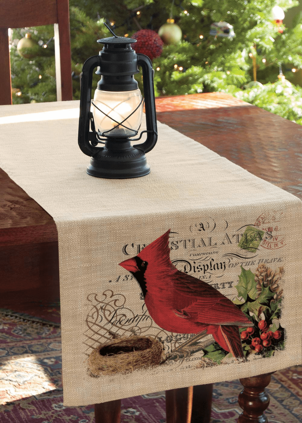 Winter Garden Cardinal Large Runner