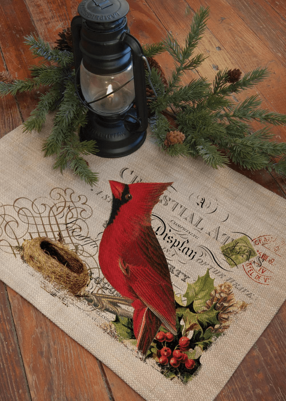 Winter Garden Cardinal Placemat, set of 4