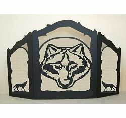 Wolf Arched or Straight Fireplace Screen