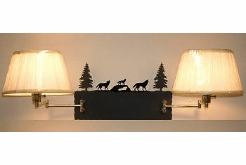 Wolf Double Swing Arm Wall Lamp