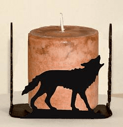 Wolf Four Sided Candle Holder