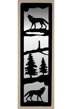 Wolf Large Accent Mirror Wall Art