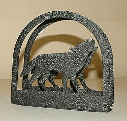 Wolf Napkin and Letter Holder