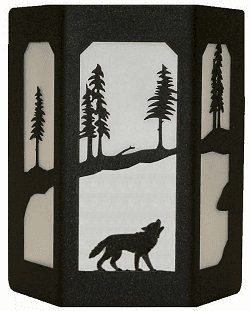 Wolf Open Sides Sconce Wall Light