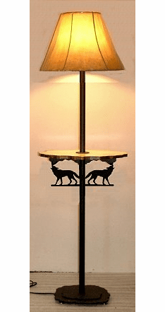 Wolf Rustic Floor Lamp With Shelf