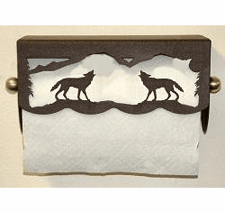 Wolf Scenery Paper Towel Holder