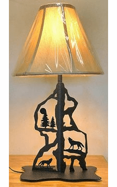 Wolf Scenery Style Table Lamp