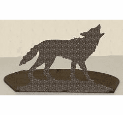Wolf Silhouette Candle Holder