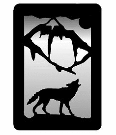 Wolf Small Accent Mirror Wall Art