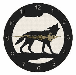 Wolf Smooth Edge Rustic Clock