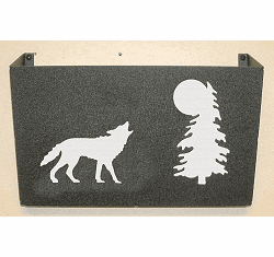 Wolf Wall Mount Magazine Rack