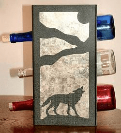 Wolf Wine Bottle Rack