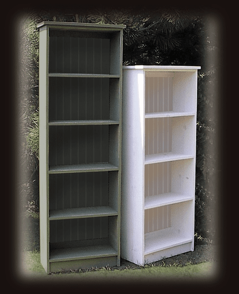 Wood Bookcase, 60in tall x 24in wide