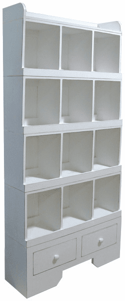 Wood Cubby, 36 inch wide