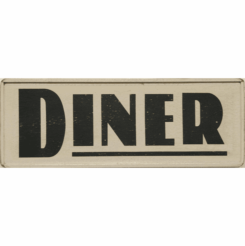 Wood Retro Diner Sign