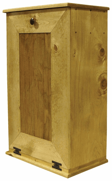 Wooden Trash Bin Large, 22 inch wide