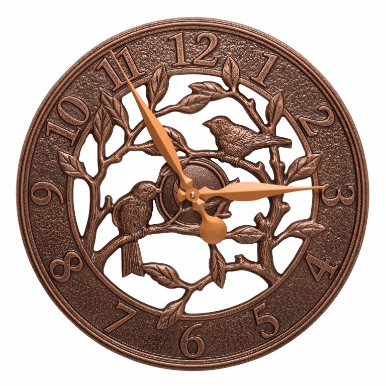 Woodridge 16 inches Indoor Outdoor Wall Clock - Antique Copper