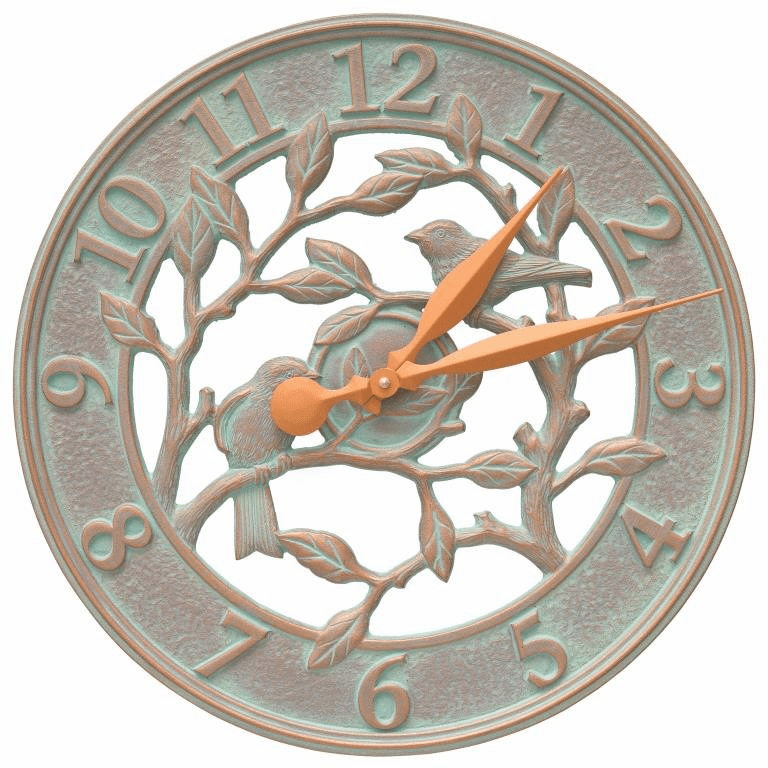 Woodridge 16 inches Indoor Outdoor Wall Clock - Copper Verdigris