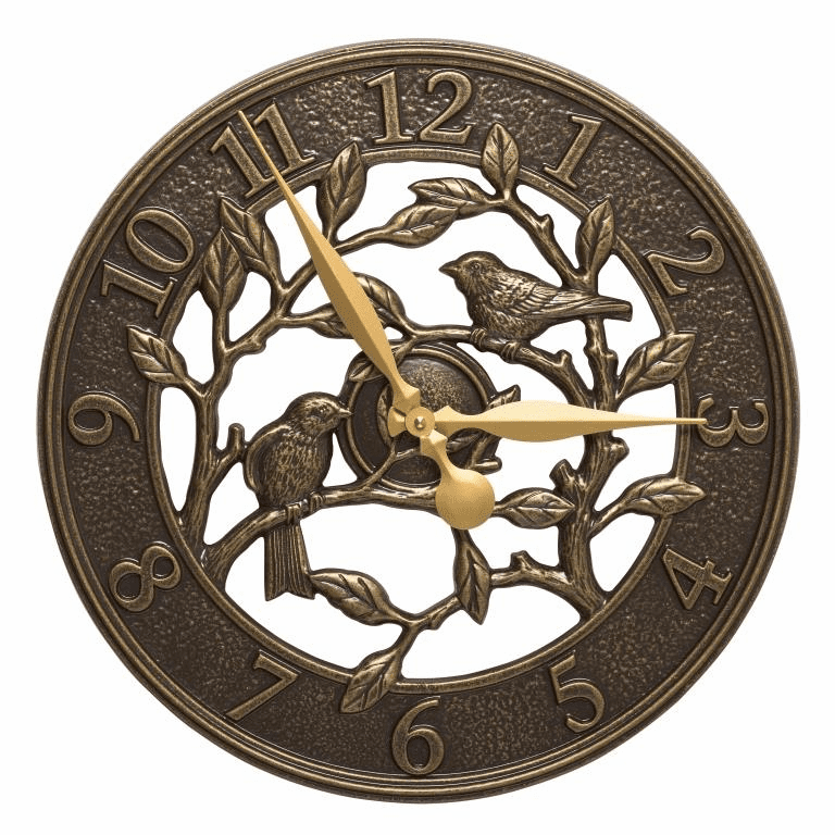 Woodridge 16 inches Indoor Outdoor Wall Clock - French Bronze