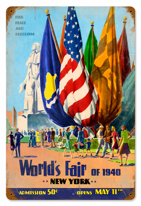World's Fair Flag Sign - NY World's Fair Poster