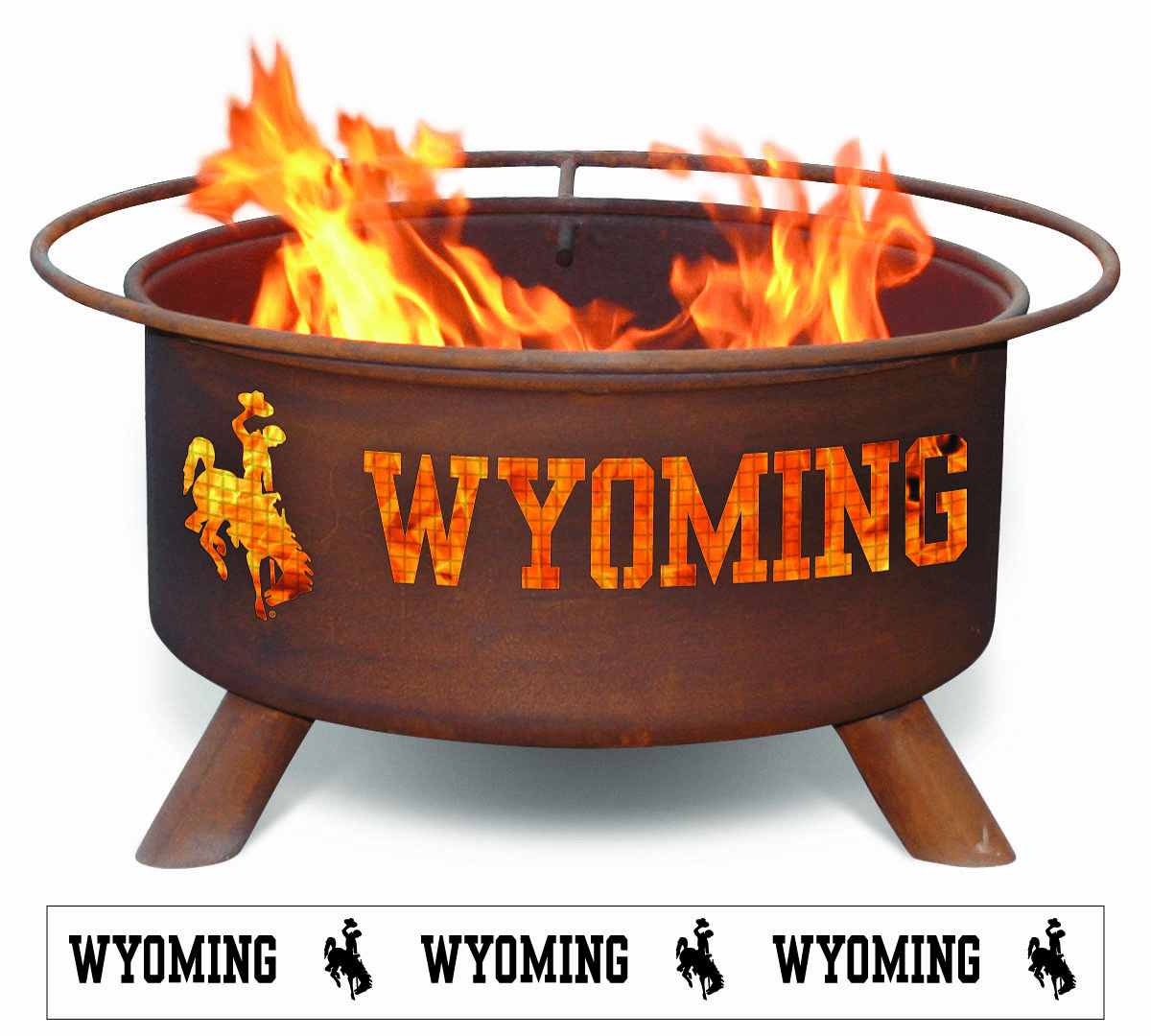 Wyoming University Cowboys Logo Fire Pit Ring