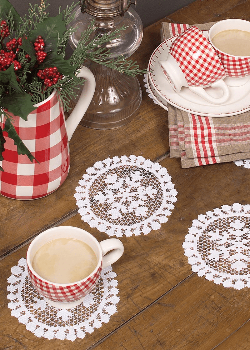 Yuletide Round Doily, set of 6
