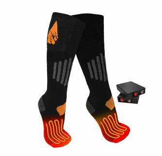 ActionHeat 3.7V Rechargeable Battery Heated Socks - Wool