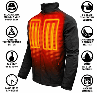 ActionHeat 5V Battery Heated Jacket - Men's