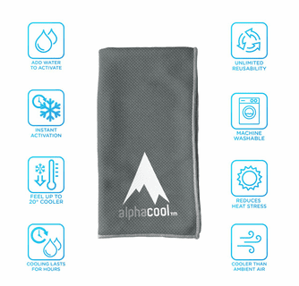 AlphaCool Mesh Instant Cooling Towel