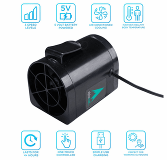 AlphaCool Mini Personal Electric Fan with Clip