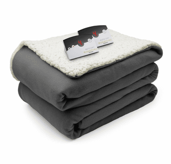 Biddeford Blankets Comfort Knit/Sherpa Electric Heated Blanket with Digital Controller - Full