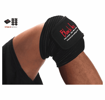 """Black Ice CoolTherapy System - STX Sports Injury Relief 60"""" Wrap Knee/Ankle (8 Pack)"""