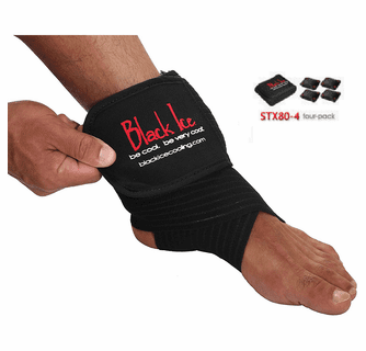 "Black Ice CoolTherapy System - STX Sports Injury Relief 80"" Wrap Large Knee (4 Pack)"