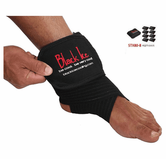 """Black Ice CoolTherapy System - STX Sports Injury Relief 80"""" Wrap Large Knee (8 Pack)"""