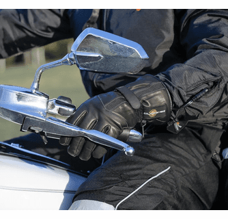 California Heat 12V Leather Heated Motorcycle Gloves