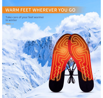 Dr.Warm Unisex Rechargeable Heated Insoles Battery Powered Foot Warmers