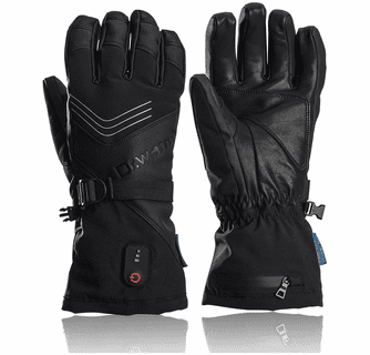 Dr.Warm Unisex Waterproof Electric Heated Leather Gloves with 7.4V 2600mAh Rechargeable Battery