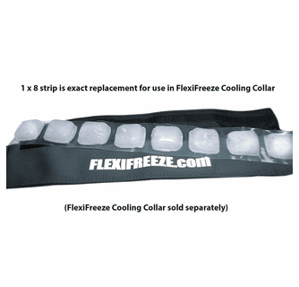 FlexiFreeze 8 Cube Ice Strip 100-Pack (For Cooling Collars)