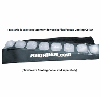 FlexiFreeze 8 Cube Ice Strip 6-Pack (For Cooling Collars)