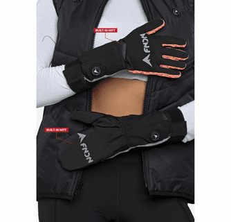 FNDN 3.7V Heated Liner Gloves with Mittens