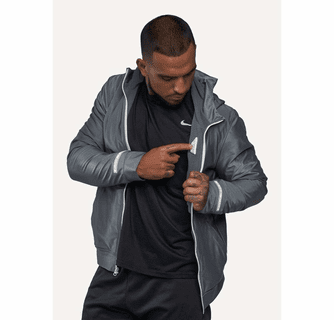 FNDN Heated LED Athletic Jacket with Built-In Heated Gloves