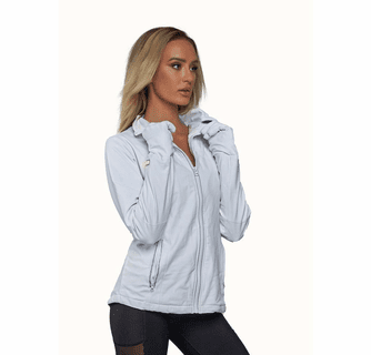 FNDN Heated Women's LED Athletic Jacket with Built-In Heated Gloves