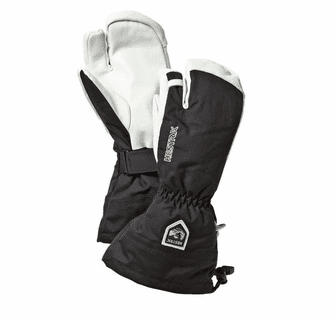 Hestra Heli Army Leather 3-Finger Winter Mitten