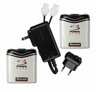Hotronic Power Plus S4 Replacement Batteries and Charger Set