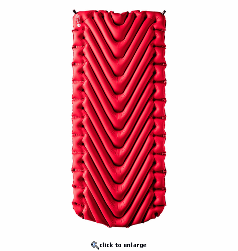 Klymit Insulated Static V Luxe Sleeping Pad - Red/Char Black